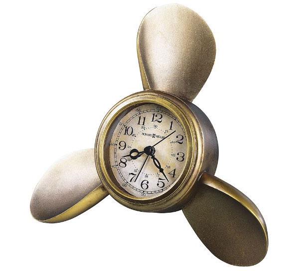 HOWARD MILLER ハワードミラー(アメリカ) Alarm Clock 壁掛け置き兼用目覚し時計 645-525 Propeller Alarm ゴールド系 輸入時計 アナログ [ 御祝 御祝い お祝い 記念品 新築祝い 熨斗 ]【クリスマス】