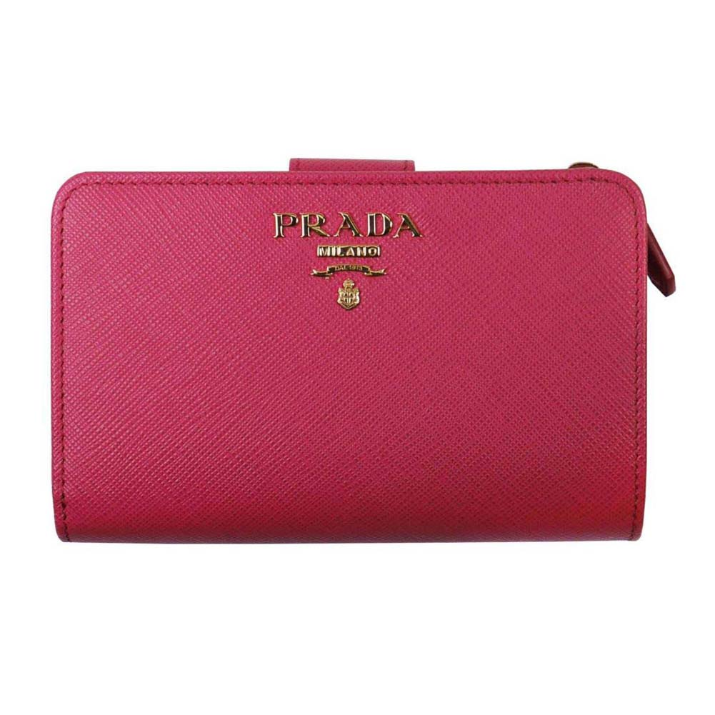 PRADA プラダ 二つ折り財布 1ML225 F0505 PEONIA QWA SAFFIANO METAL ピンク系 高級 人気 ブランド おしゃれ おすすめ [贈り物 就職祝い 昇進祝い 母の日 敬老の日 クリスマス]