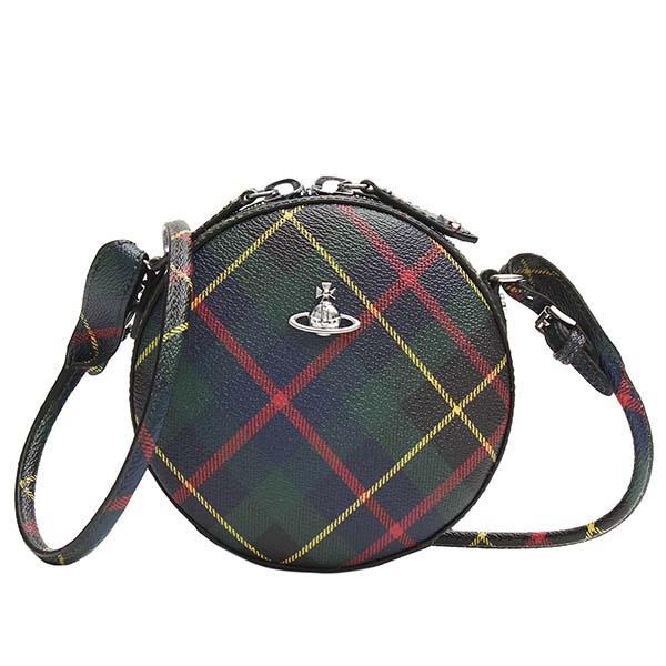 ヴィヴィアン ウエストウッド 43030030 DERBY ROUND CROSSBODY BAG ショルダーバッグ HUNTING TARTAN レディース 女性用 人気 ブランド おしゃれ おすすめ ビビアン