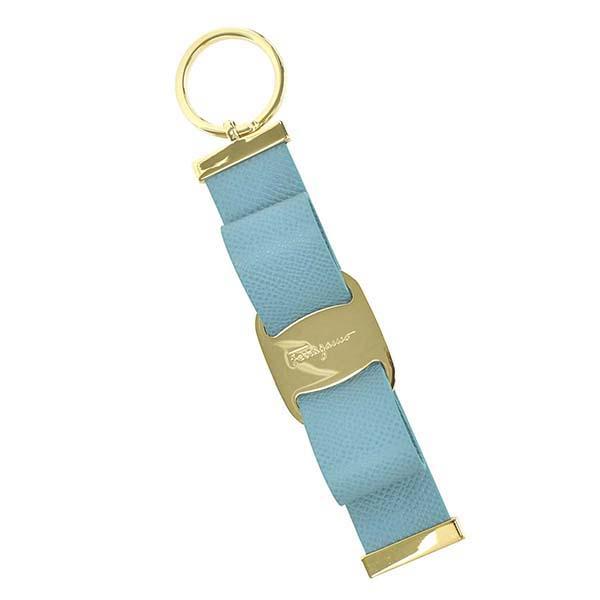 フェラガモ 22D579 724209 キーリング キーホルダー ライトブルー 水色 レディース 女性用 人気 ブランド おしゃれ おすすめ
