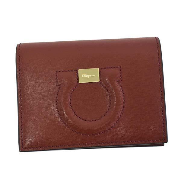 フェラガモ 22D514 725377 二つ折り財布 小銭入れ有り レッド 赤 レディース 女性用 人気 ブランド おしゃれ おすすめ