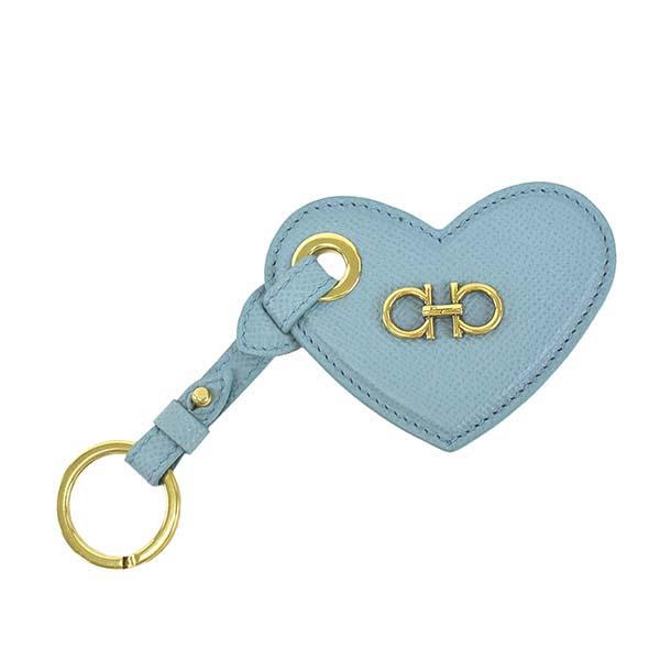 フェラガモ 22D865 726520 キーリング キーホルダー ライトブルー 水色 レディース 女性用 人気 ブランド おしゃれ おすすめ