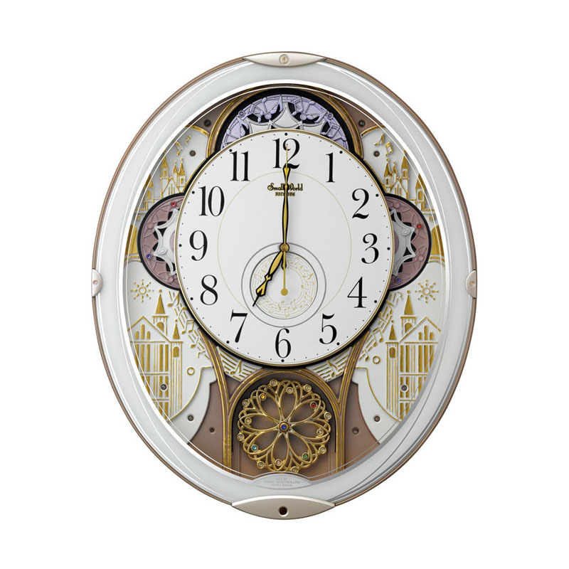 リズム時計工業 SmallWorld 電波からくり壁掛け時計 スモールワールドノエルN 4MN539RH03 メロディー 音楽 白 ホワイト アナログ [ 御祝 御祝い お祝い 記念品 新築祝い 熨斗 ]