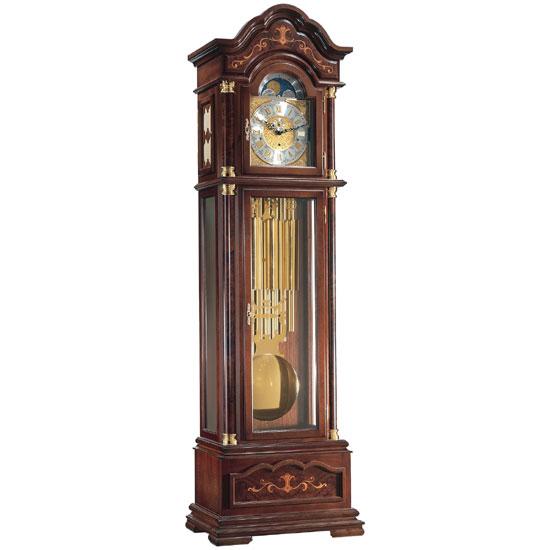 Hermle [ヘルムレ] 高級インテリアクロック Floor Clock ホールクロック 置時計 振子時計クルミ材 茶色 ブラウン木目01131-031171[送料無料]【成人式 お祝い】【父の日】【クリスマス】