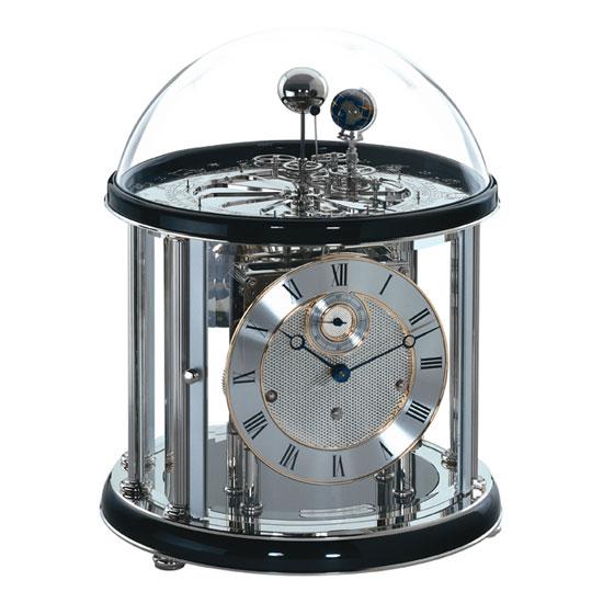 Hermle ヘルムレ 高級インテリアクロック Table Clock テーブルクロック 激安格安割引情報満載 置き時計 天体時計ブラック黒 送料無料 クリスマス 成人式 注目ブランド お祝い 22823-740352 父の日 機械式ガラス