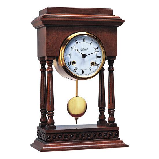 Hermle [ヘルムレ] 高級インテリアクロック Table Clock テーブルクロック 置き時計 クルミ材振子付き 機械式 22902-Q10131[送料無料]【成人式 お祝い】【父の日】【クリスマス】