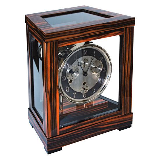 1着でも送料無料 Hermle [ヘルムレ] 高級インテリアクロック Table Table Clock 置き時計 テーブルクロック 置き時計 天然木機械式ガラス Clock 22966-460352[送料無料]【成人式 お祝い】【父の日】【クリスマス】, カガミノチョウ:e8f67333 --- canoncity.azurewebsites.net