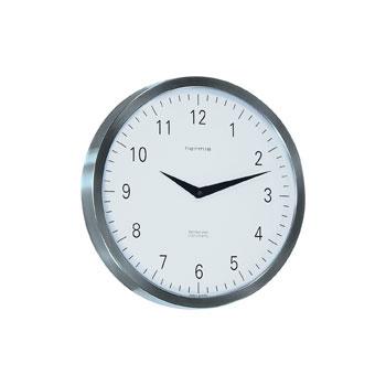 Hermle [ヘルムレ] 高級インテリアクロック Wall Clock 壁掛け時計 ステンレス・スティール銀色シルバー 30466-002100[送料無料]【成人式 お祝い】【父の日】【クリスマス】