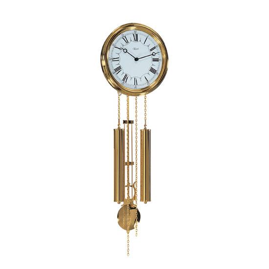 Hermle [ヘルムレ] 高級インテリアクロック Wall Clock 壁掛け時計 振り子 クォーツ ゴールド金メタル 60992-002214[送料無料]【成人式 お祝い】【父の日】【クリスマス】