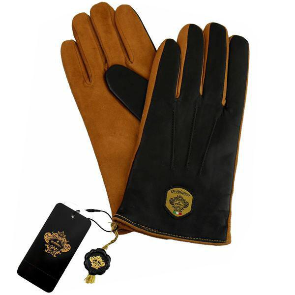 オロビアンコ OROBIANCO メンズ手袋 ORM-1531 Leather glove 羊革(ラム)/ウール D.BROWN/CAMEL サイズ:8.5(24cm) ダークブラウン キャメル 茶色 [ギフト プレゼント ラッピング無料 お祝い クリスマス]