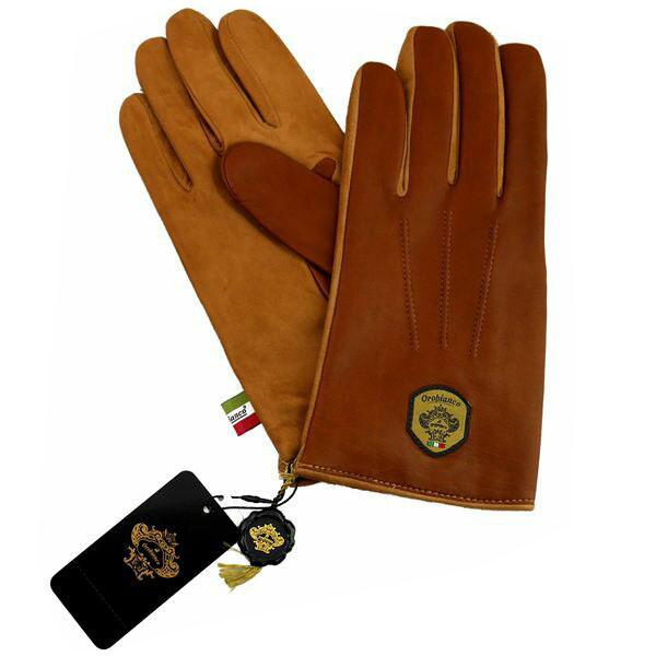 オロビアンコ OROBIANCO メンズ手袋 ORM-1531 Leather glove 羊革(ラム)/ウール L.BROWN/CAMEL サイズ:8.5(24cm) ライトブラウン キャメル 茶色 [ギフト プレゼント ラッピング無料 お祝い クリスマス]