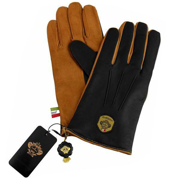 オロビアンコ OROBIANCO メンズ手袋 ORM-1531 Leather glove 羊革(ラム)/ウール NAVY/CAMEL サイズ:8(23cm) ネイビーブルー キャメル 紺色 青 茶色 [ギフト プレゼント ラッピング無料 お祝い クリスマス]