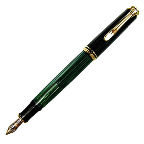 [送料無料]【Pelikan】ペリカン スーベレーン M400 グリーン縞 万年筆 筆記具[ギフト プレゼント 成人式 お祝い 父の日]【ホワイトデー】【クリスマス】
