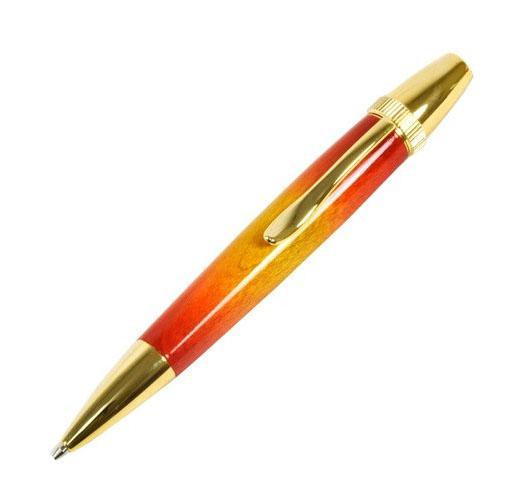 F-STYLE Air Brush Wood Pen サンバースト ギター塗装 メープルウッド 楓 TGT1610 日本製 油性ボールペン おしゃれ (コ)