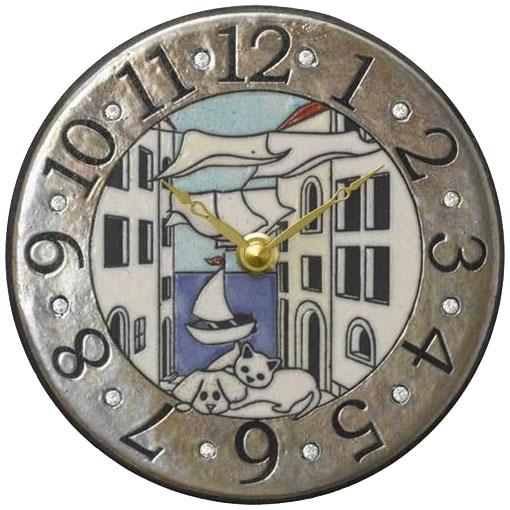 リズム時計工業 ザッカレラ 掛置兼用時計 ZC904-004 ザッカレラZ904 イタリア製陶器枠 アナログ [ 御祝 御祝い お祝い 記念品 新築祝い 熨斗 クリスマス]