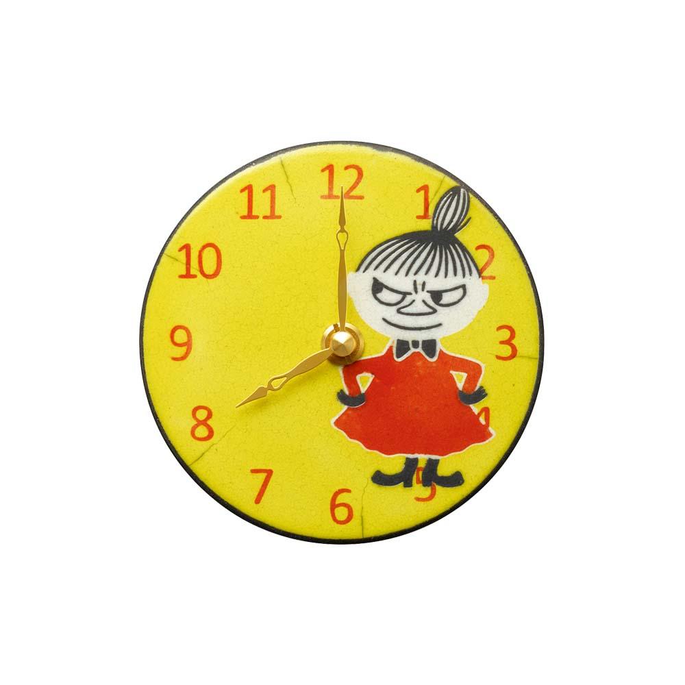リズム時計工業 ムーミン リトルミイ Pottery Clock クォーツ?掛置兼用時計 ZC968MT33 イタリア製陶器枠 キャラクタークロック アナログ