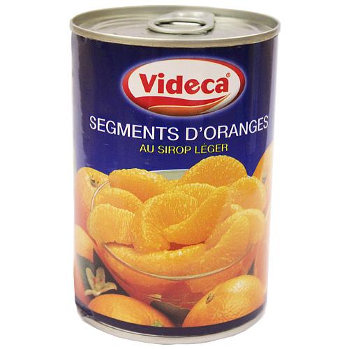 オレンジの実の部分をシロップ漬けにしました。お菓子作りなどに。 バレンシアオレンジセグメント缶 4号缶 / 製菓材料、製パン材料、フルーツ缶