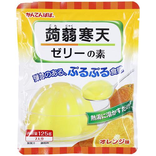 蒟蒻寒天ゼリー オレンジ味 125g