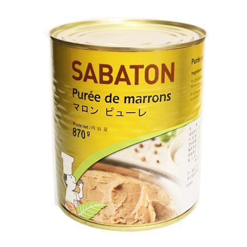 お砂糖が入っていないので お料理にもおすすめ サバトン マロンピューレ 870g モンブラン 正規逆輸入品 製菓材料 セール 登場から人気沸騰 栗 無糖 パン材料