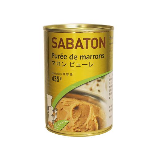 お砂糖が入っていないので お料理にもおすすめ サバトン マロンピューレ 435g 無糖 春の新作シューズ満載 栗 モンブラン パン材料 製菓材料 セール特価品