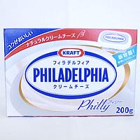 200gの使い切りクリームチーズ。お菓子作りの定番アイテムです [クール便]クラフトフィラデルフィアクリームチーズ 200g / 製菓材料 パン材料 チーズ