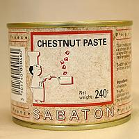 Sabaton 栗子粘贴 240 g / 烘焙配料的板栗万宝龙糖果材料