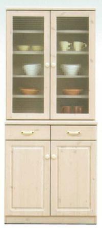 送料無料!カントリー調・食器棚・キッチン収納・カップボード・国産品・エコル