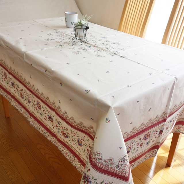プロヴァンス おしゃれな テーブルクロス撥水加工 155×200 綿 コットン