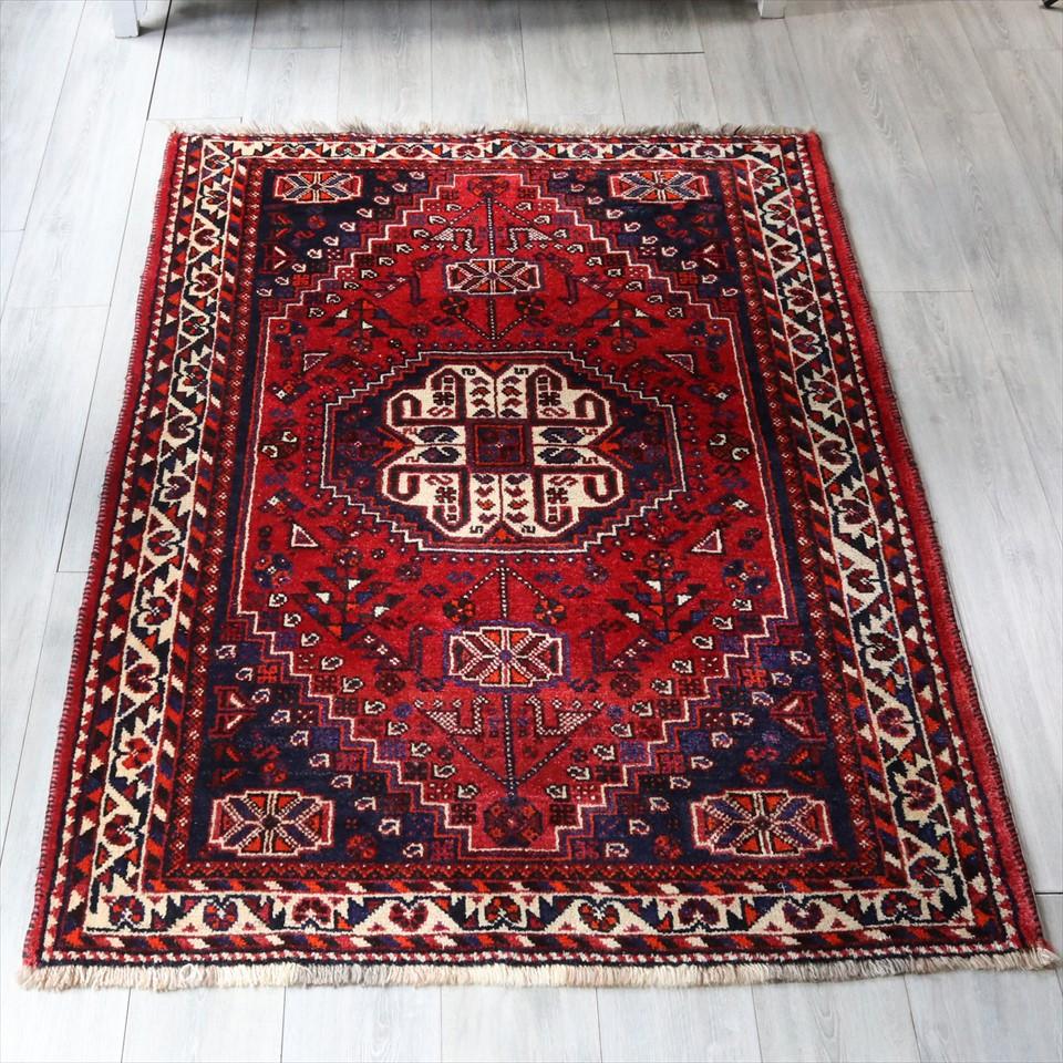 オールドギャッベ トライバルラグ シラーズ180×123cmカシュカイ族の手織り センターラグ