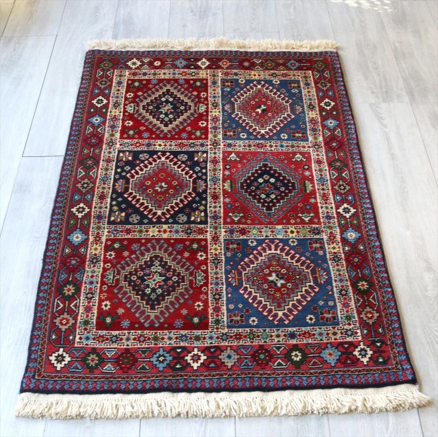 トライバルラグ・部族絨毯/イラン南部ヤラメ Yarameh127×81cm玄関マットアクセントラグ/ガーデンデザイン