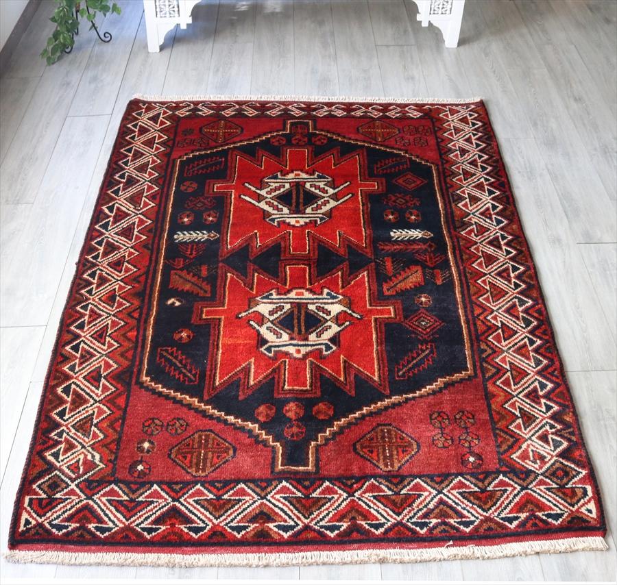 トライバルラグ 部族絨毯 ロリ族 リビングサイズ208×143cm
