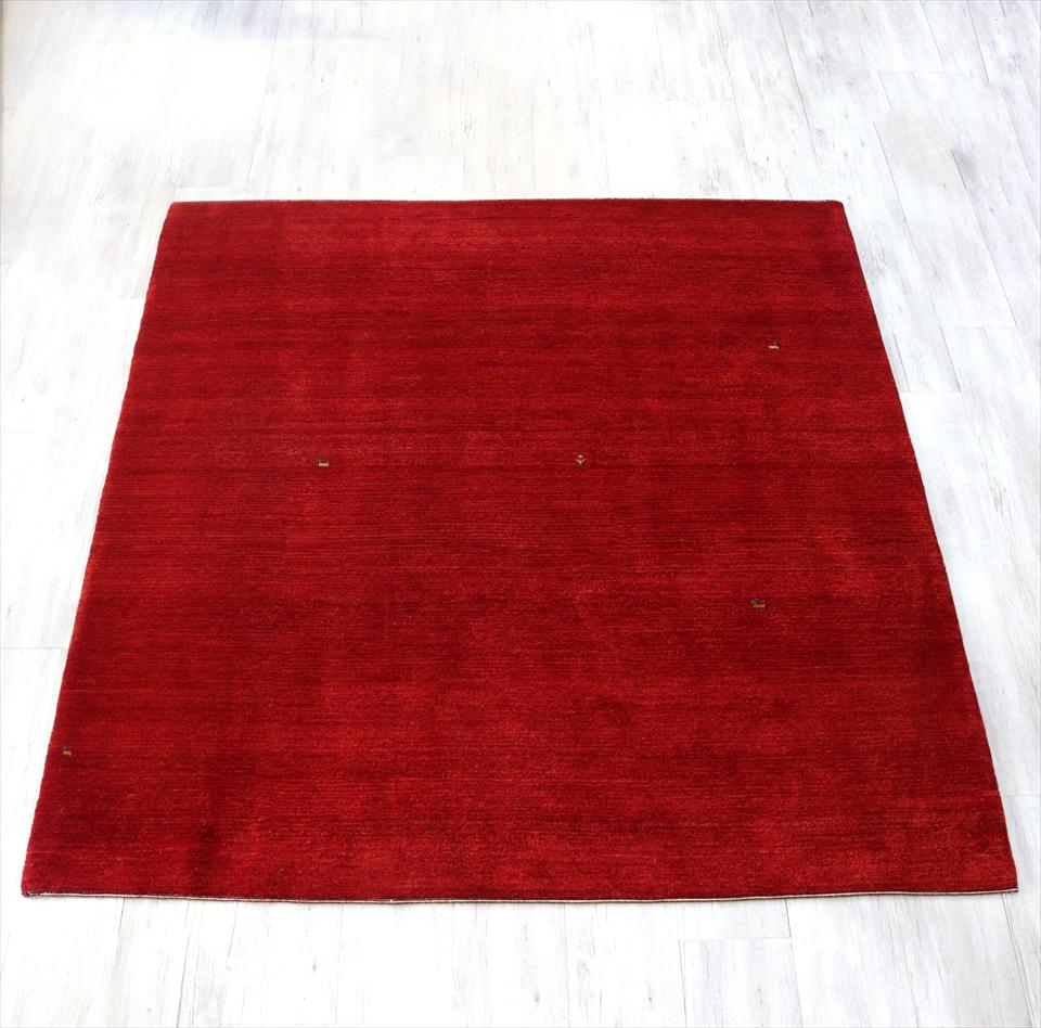 ギャッベ ギャベ・カシュカイ族の手織りラグ・バナフシェBanafsheh/大型ルームサイズ226x210cm レッド・動物と植物のモチーフ