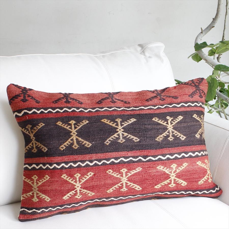 オールドキリムクッション ご予約品 長方形ビッグピロー Turkish Old Sivas Cushion61x39cm Kilim マーケット シワス