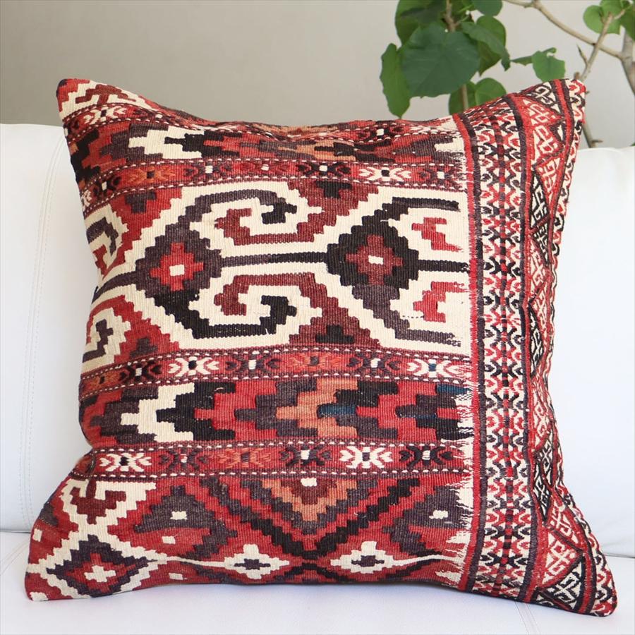 オールドキリムクッションカバー50cm角サイズ Turkish Kilim Cushion シルジャン メーカー直送 全品送料無料