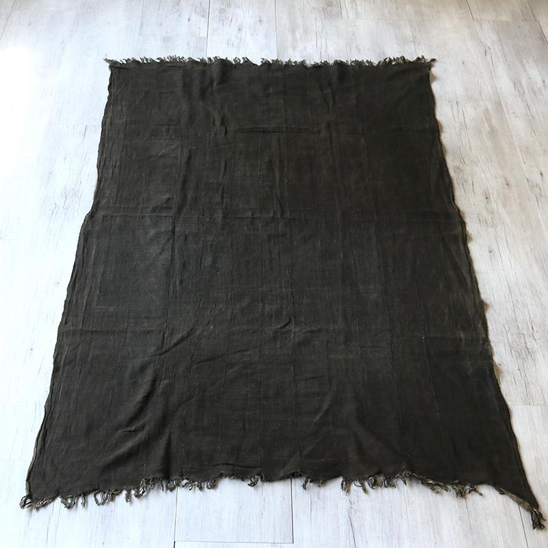 アフリカ泥染め布・ブルキナファソ Mud Cloth Burkinafaso黒色 ブラック
