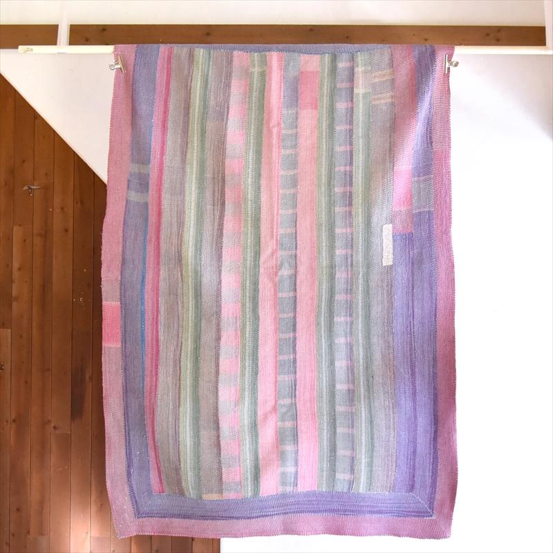 インド カンタ刺繍・パッチワーク/ラリーキルト 古布・ヴィンテージファブリック 185×127cm Kantha embroidery, India