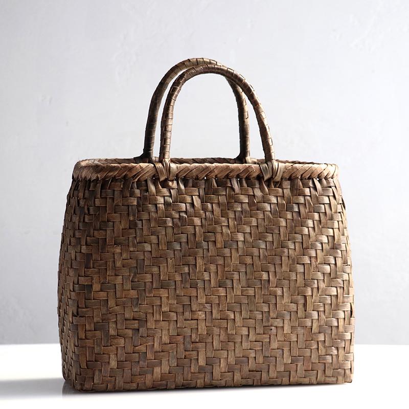 くるみのカゴバッグ/網代編み/大サイズ幅34cmx本体の高さ27cmxマチ13cm・重さ500g