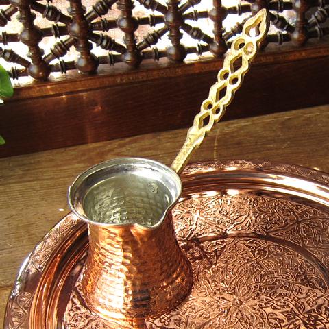 春の新作シューズ満載 ジェズベCezve ブロンズ 正規店 銅製 トルコお土産 トルココーヒーを沸かすための小さな鍋