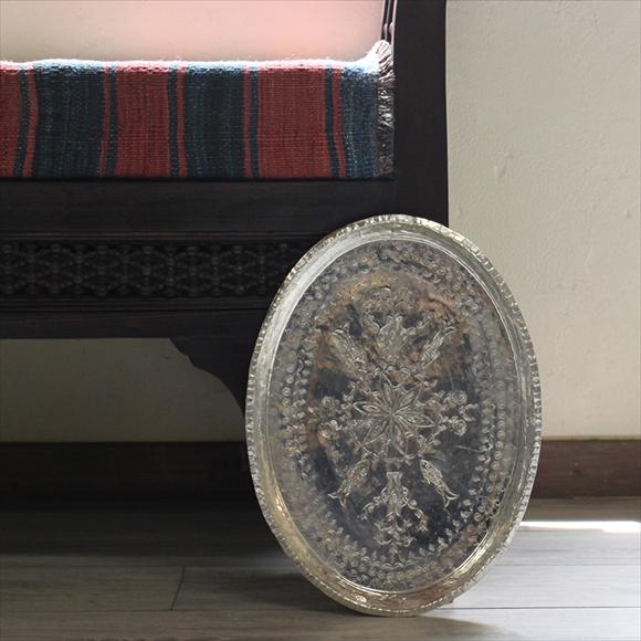 トルコ製・バクル(銅製品)のお盆・楕円形縦28cm×横38cmTurkish Bakir, Oval tray