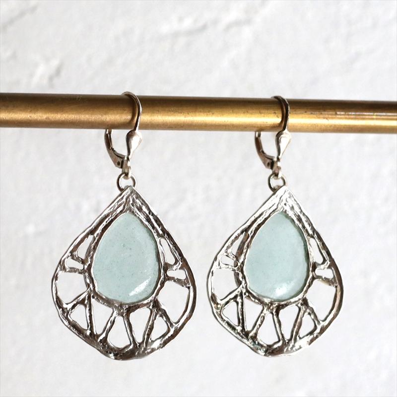 The Roman Glass Company ローマングラスカンパニーイスラエル出土古代ガラスとシルバーのピアス