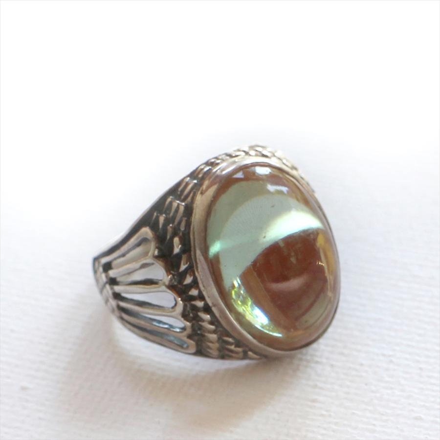 サフィレットアンティークビーズ・シルバーリング14号Michel's Vintage Beads Ring saphiret