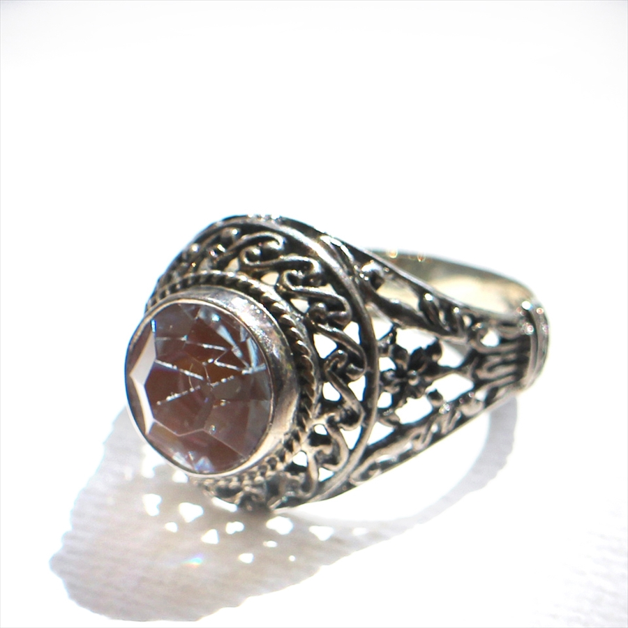 サフィレットアンティークビーズ・シルバーリング10号Michel's Vintage Beads Ring saphiret