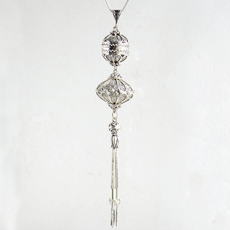 スルタンのタッセル・オスマントルコデザインシルバーペンダント(ペンダントトップのみ)Silver Pendant top, Sultan's Tassel