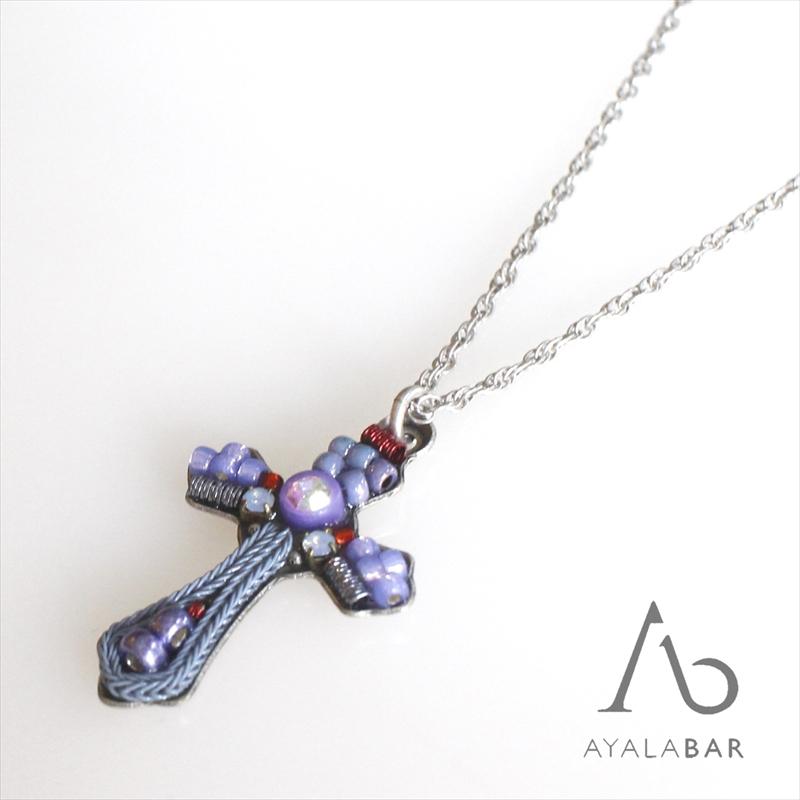 アヤラ・バー クロスペンダント/ロザリオ・ネックレスパープル