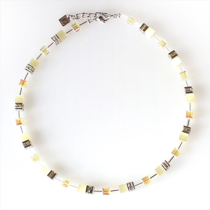 クール・ド・リオン Coeur de Lion ゲオキューブコレクションcln4322-0120ネックレス/パステルイエロー