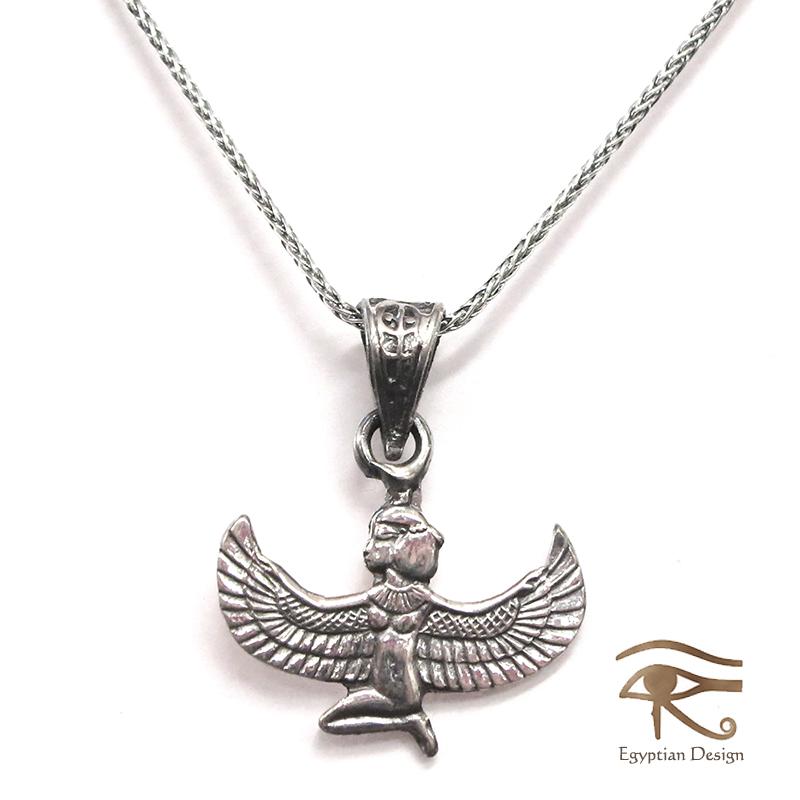 银子925吊坠(附带链子)、Egyptian Silver Jewelry Pendant埃及Egyptian Silver Jewelry Pendant伊希斯神尺寸2 Isis Goddess of rebirth