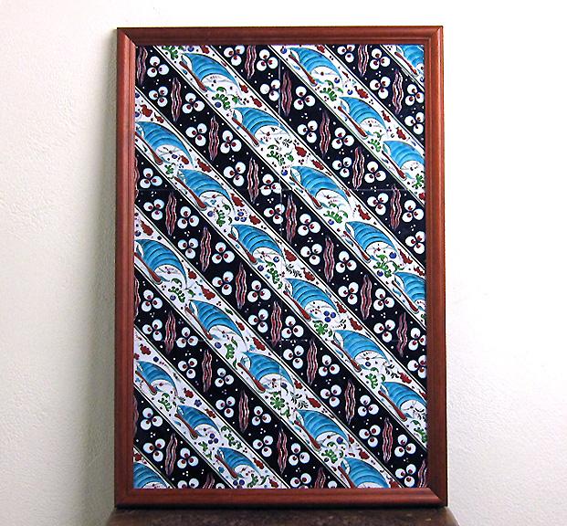 トルコ陶器・手書きタイルのパネルタイル6枚額・チャナッカレ(トロイ)の船