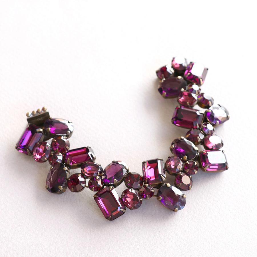 Michel's Vintage Beads Neckraceヴィンテージビーズブレスレットボリウッド・アメジスト