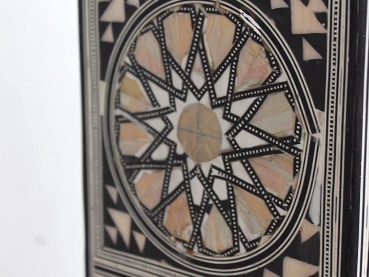 工艺家具旁边表-八角形-L 大小埃及伊斯兰,几何图案镶嵌家具珍珠埃及螺钿母亲表