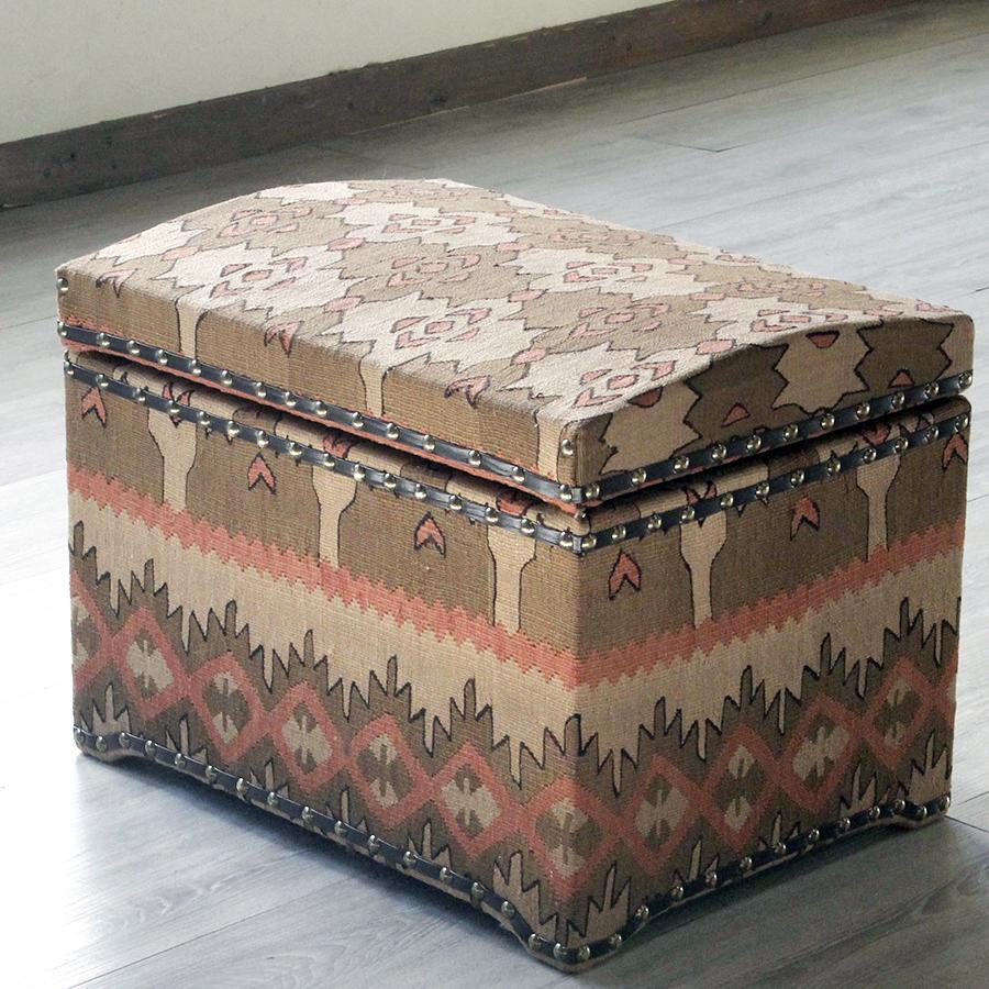 オールドキリム木製家具・宝箱Lサイズ・シャルキョイ